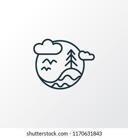 Biosphere icon line symbol. Premium quality isolated environmental element in trendy style.