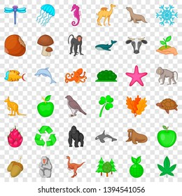 Biosphere icons set. Cartoon style of 36 biosphere vector icons for web for any design
