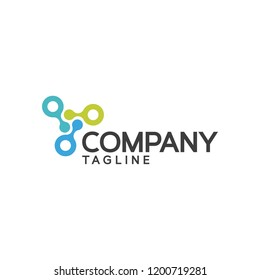 Biotech or DNA Logo Design Icon or Template Vector