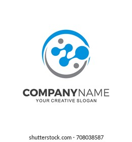 Biotech logo. Business  logo illustration