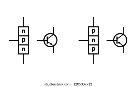 n–p–n and p–n–p bipolar junction transistor