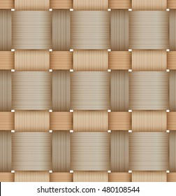 Birch bark Basketwork. Seamless pattern. Natural color. Mask was used.