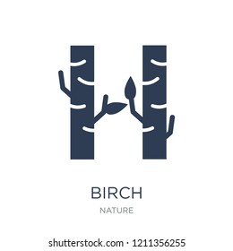 Birch icon. Trendy flat vector Birch icon on white background from nature collection, vector illustration can be use for web and mobile, eps10