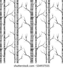 birch tree seamless pattern