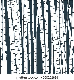 Birch trees background for you design