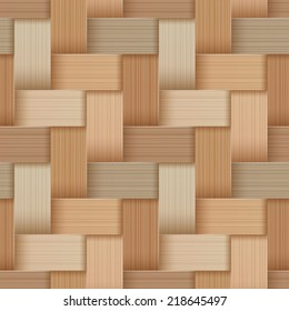 Birchbark Basketwork. Seamless pattern. EPS 10. Mask was used.