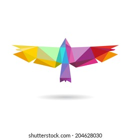 Bird abstract isolated on a white backgrounds, vector illustration
