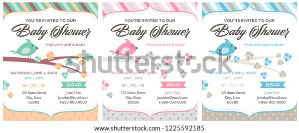 Bird Baby Shower Invitations