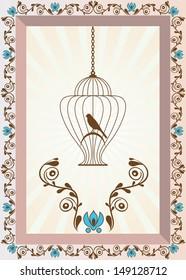 Bird in Cage Background