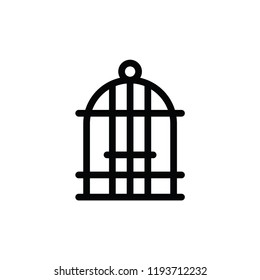 Bird cage icon illustration isolated vector sign symbol