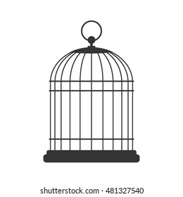 Bird cage, vector design