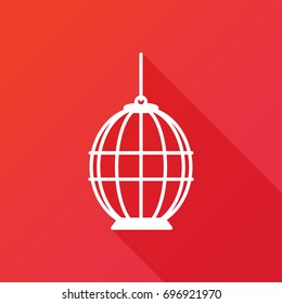 Bird Cage vector icon. Lost of freedom symbol. Trapped sign
