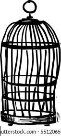 Bird cage vector illustration