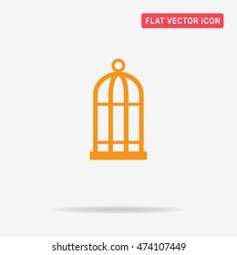 Bird cell icon. Vector concept illustration for design.