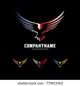 Bird Creative Logo - Eagle...wk Wings Icon Template
