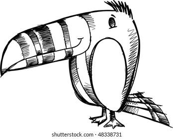 Bird Doodle Sketch Vector Illustration