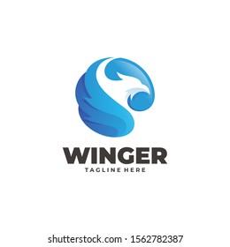 Bird Eagle Falcon Hawk and Wing Logo Icon