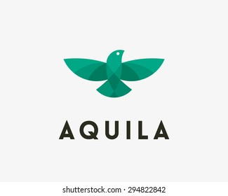 Bird, eagle, vector logo design. Universal modern premium elegant symbol. Creative delivery, shipping, cargo, corporate sign. Falcon, freedom, phonix concept for print or t-shirt design.