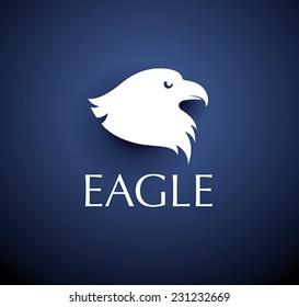 bird emblem - vector eagle head icon
