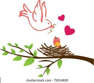 Bird Nest Tree Images, Stock Photos & Vectors   Shutterstock