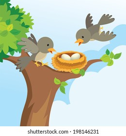 Bird Nest Tree Images Stock Photos Vectors Shutterstock