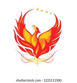 Bird fire logo