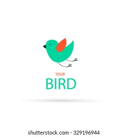 Bird flat style for your design , icon, avatar, character .