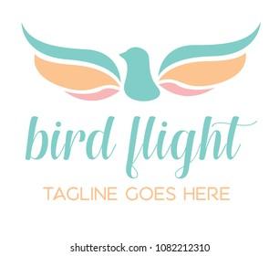 Bird Flight Logo Icon Template