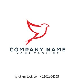 Bird Fly Creative Logo Modern Simple Vector Editable Template Luxury