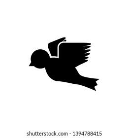 bird fly illustration icon logo design template