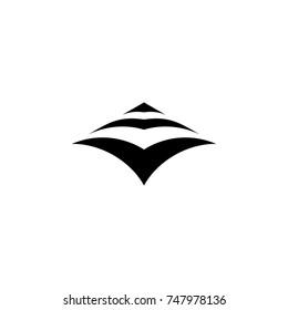 bird fly shape silhouette. arrow logo vector