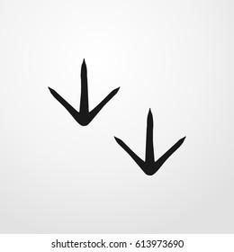 bird footprint icon. vector sign symbol on white background