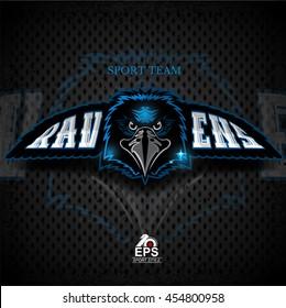 Bird head logo for any sport team ravens