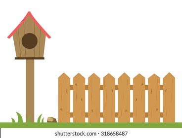 bird house and fence