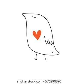 Bird icon in love.