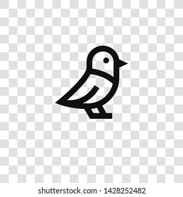 bird icon from miscellaneous collection for mobile concept and web apps icon. Transparent outline, thin line bird icon for website design and mobile, app development