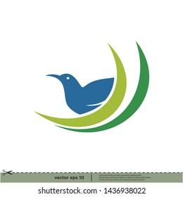 bird icon vector logo template