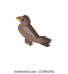 Bird isometric left top view 3D icon