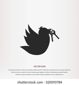 Bird with the keys icon