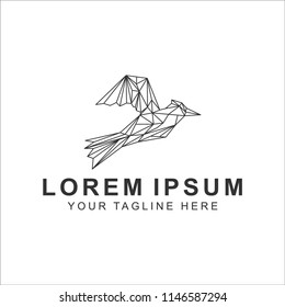 bird line art logo design