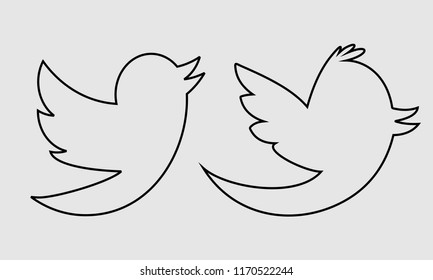 Bird Line Illustration Vector