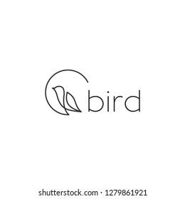 bird line logo design