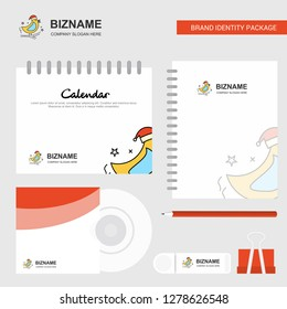 Bird  Logo, Calendar Template, CD Cover, Diary and USB Brand Stationary Package Design Vector Template