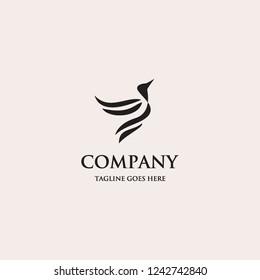 bird logo icon template