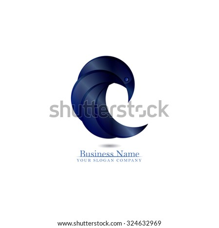 bird logo vector design template stock vector royalty free