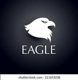 bird logo - vector eagle head icon