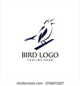 bird logo vector icon design template