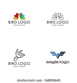 bird logo. vector template
