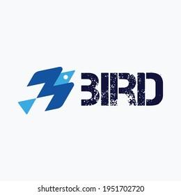 Bird logo vector template. Fly symbol. Eps 10. Minimal logotype. Luxury bird, eagle, hawk vector line logo design. Universal premium falcon symbol logotype.