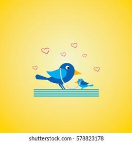 bird love baby icon logo animal